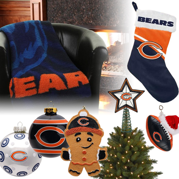 Chicago Bears Christmas Ornaments
