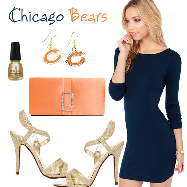 Chicago Bears Inspired Date Look