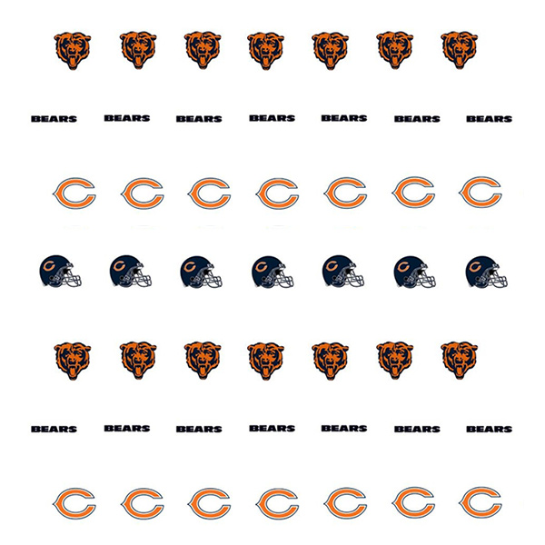 Chicago Bears Nail Stickers