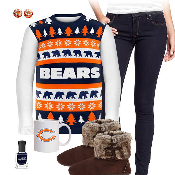 Chicago Bears Sweater Outfit