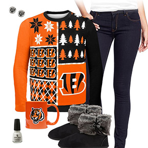 Cincinnati Bengals Ugly Sweater Love