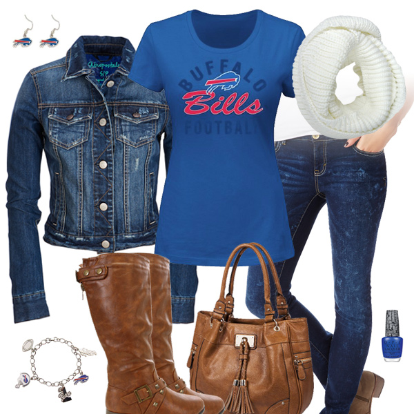 Buffalo Bills Jean Jacket Outfit