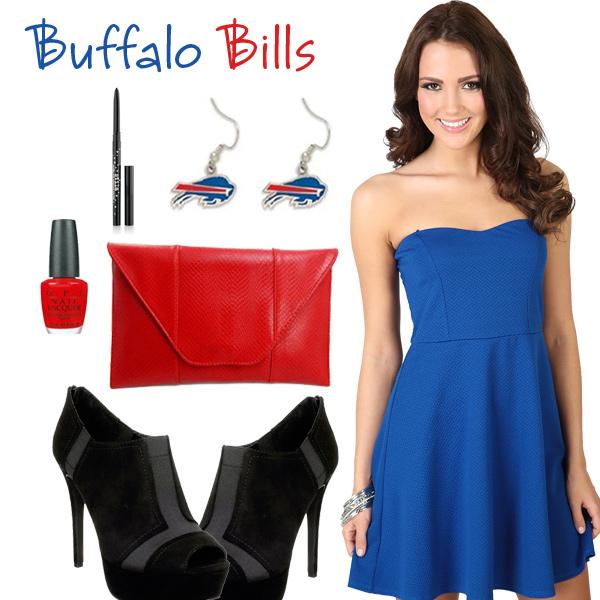 sports shoes 803fe 7975d Buffalo Bills Inspired Dress, Sexy Buffalo Bills Date Night Look