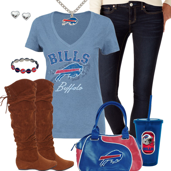 Cute Buffalo Bills Fan Outfit