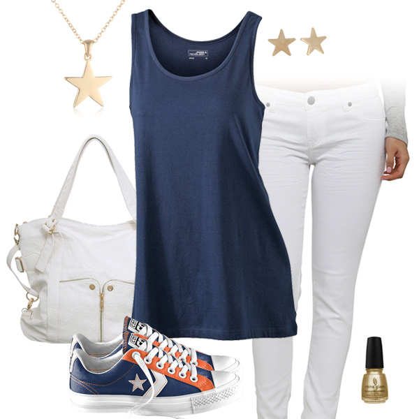Denver Broncos Outfit With Converse