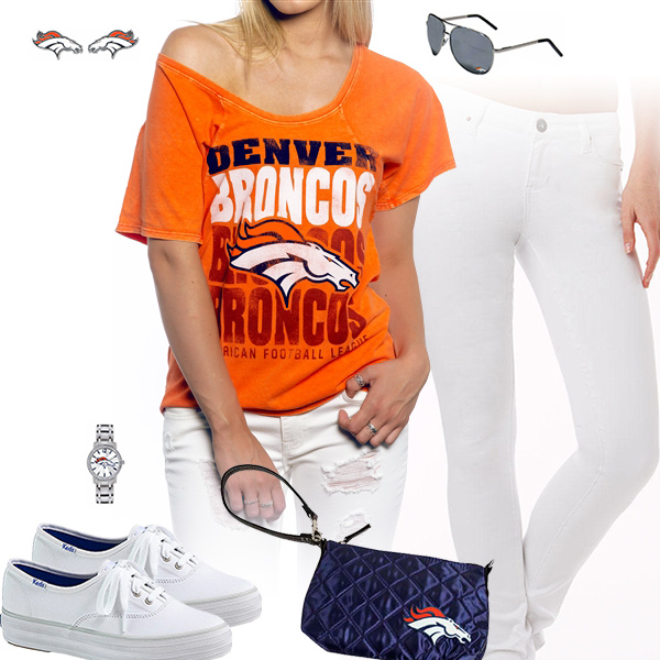 Denver Broncos Off The Shoulder Top