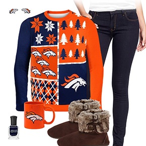 Denver Broncos Ugly Sweater Love