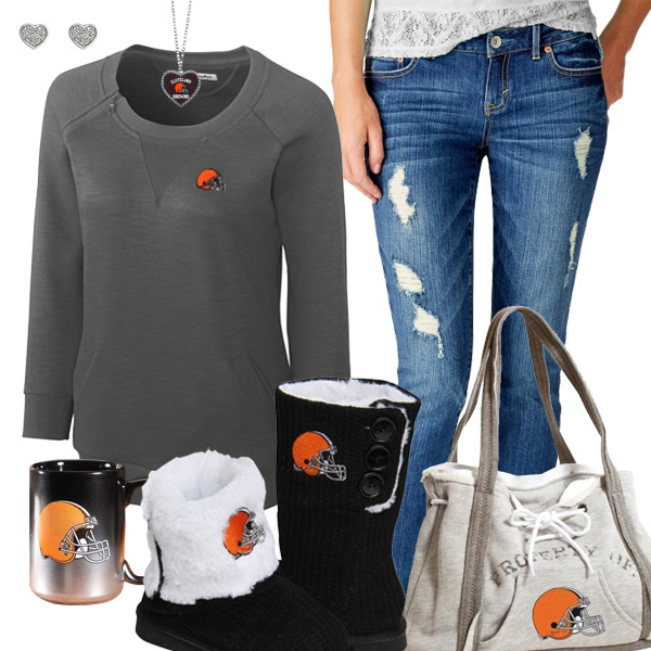 Cute Browns Fan Outfit