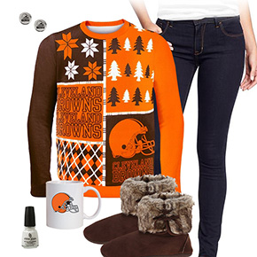 Cleveland Browns Ugly Sweater Love