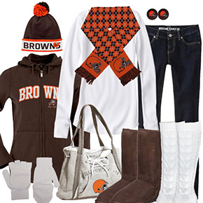Cleveland Browns Winter Wonder Fan