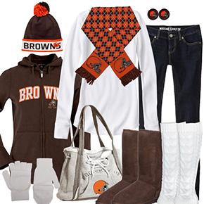 Cleveland Browns Winter Wonder Fan