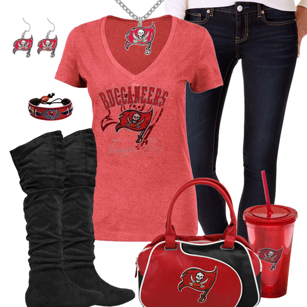 competitive price 5bb5f e42c9 Trendy Chill Tampa Bay Buccaneers Fan Outfit, Tampa Bay ...