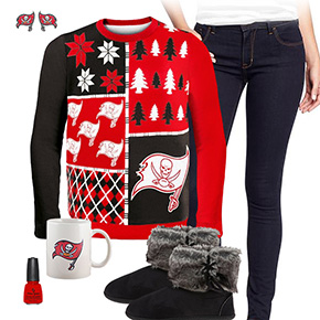 Tampa Bay Buccaneers Ugly Sweater Love