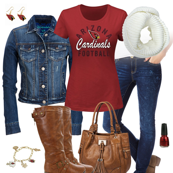 Arizona Cardinals Jean Jacket Outfit