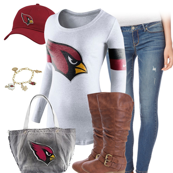 ebf6befe Arizona Cardinals Outfit, Cardinals Hat, Long Sleeve Cardinals Tee