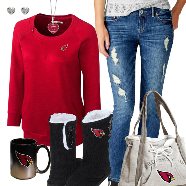 Cute Cardinals Fan Outfit