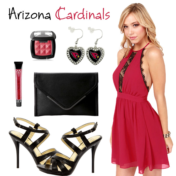 Arizona Cardinals Inspired Date Look