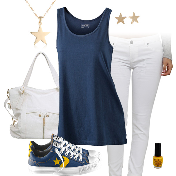 San Diego Chargers Outfit With Converse