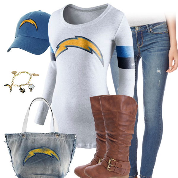 San Diego Chargers Inspired Outfit