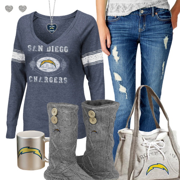 Cute Chargers Fan Outfit