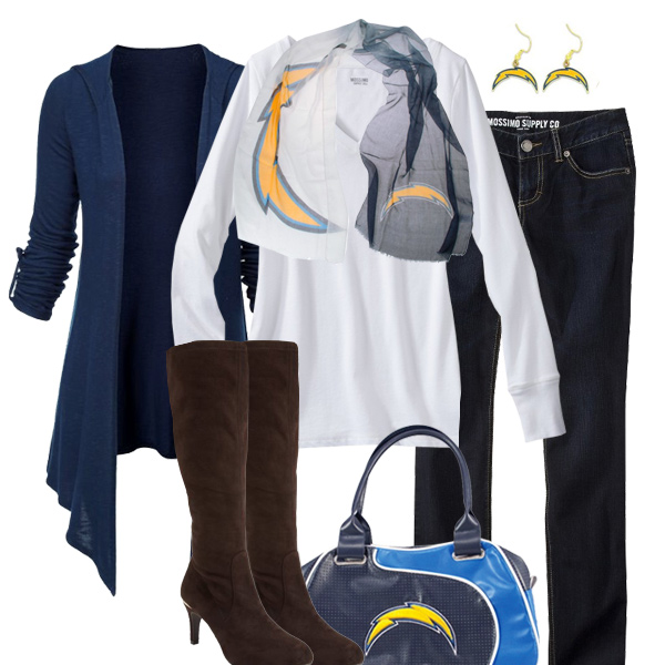 San Diego Chargers Inspired Fall Fashion