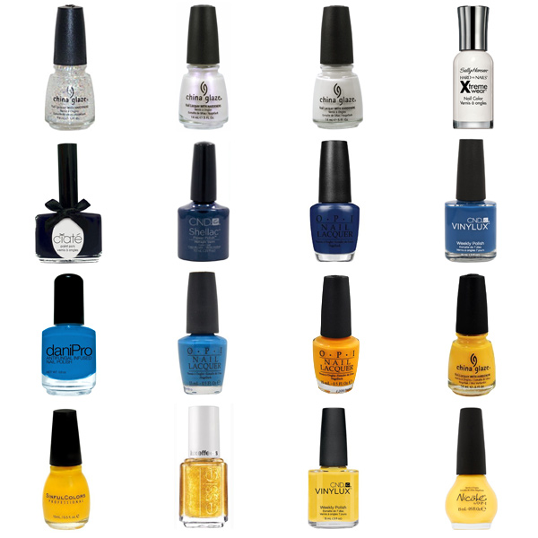 San Diego Chargers Nail Polish Colors