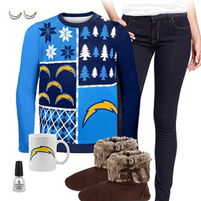 San Diego Chargers Ugly Sweater Love