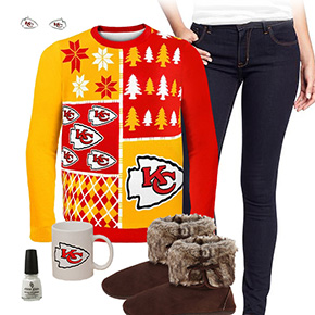 Kansas City Chiefs Ugly Sweater Love