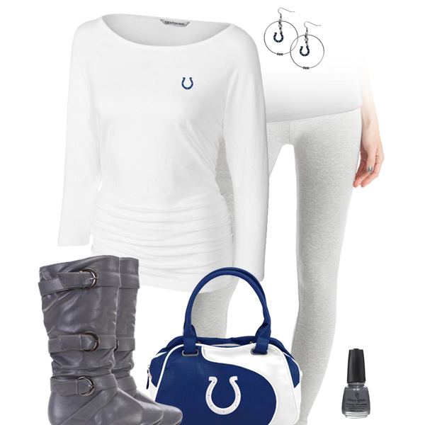 low priced c82f0 49cb3 Indianapolis Colts Leggings Outfit, Indianapolis Colts ...