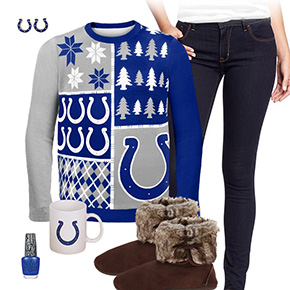 Indianapolis Colts Ugly Sweater Love