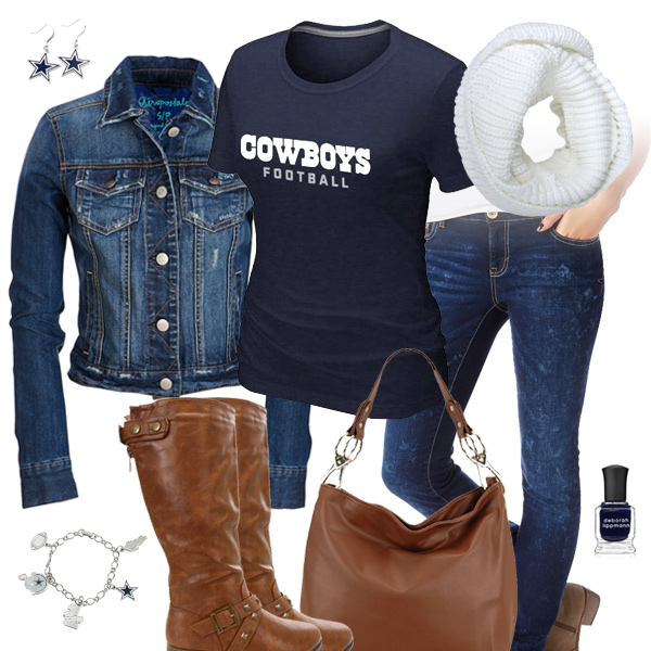 Dallas Cowboys Jean Jacket Outfit caa512e61