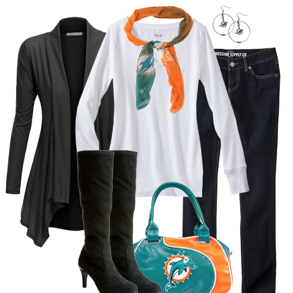 Miami Dolphins Inspired Fall Fashion