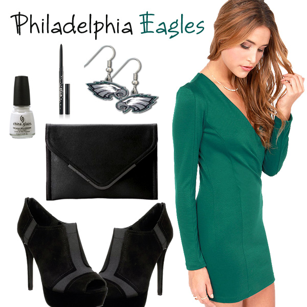 Philadelphia Eagles Inspired Date Look