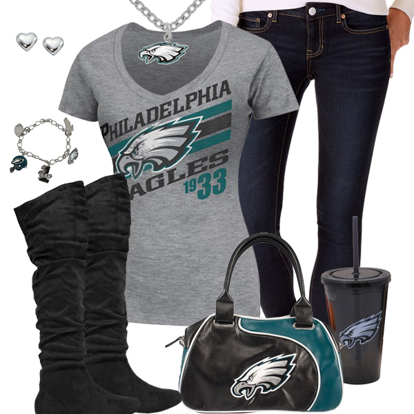 Cute Philadelphia Eagles Fan Outfit