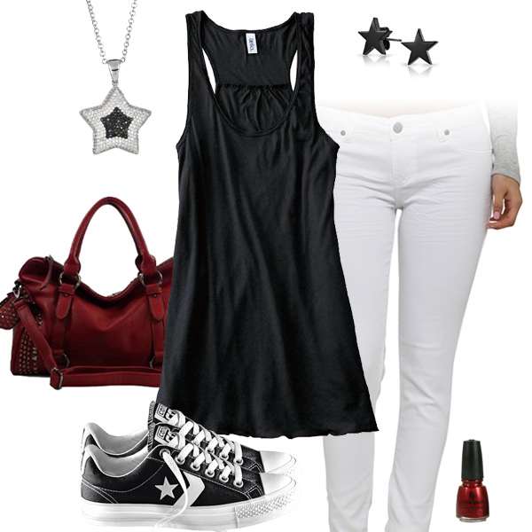 Atlanta Falcons Outfit With Converse