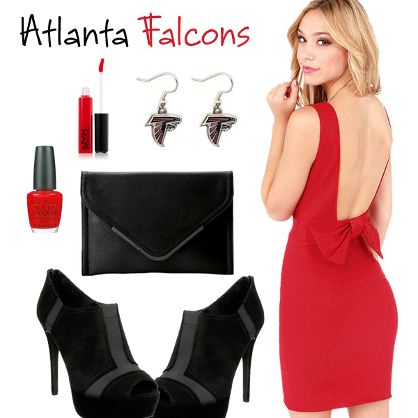 Atlanta Falcons Inspired Date Look