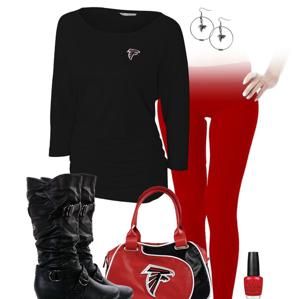 Atlanta Falcons Inspired Leggings Outfit