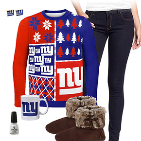 New York Giants Ugly Sweater Love