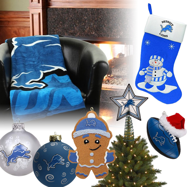 Detroit Lions Christmas Ornaments