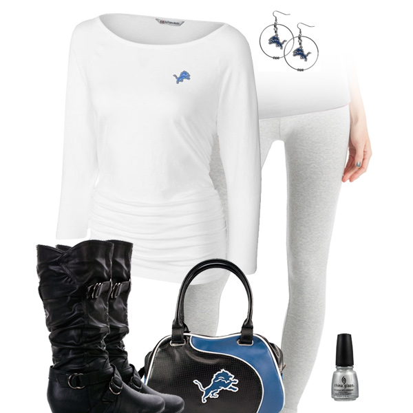 Detroit Lions Inspired Leggings Outfit