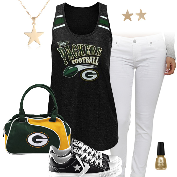 128ded8d Cute Green Bay Packers Racerback Tank Top, Green Bay Packers ...