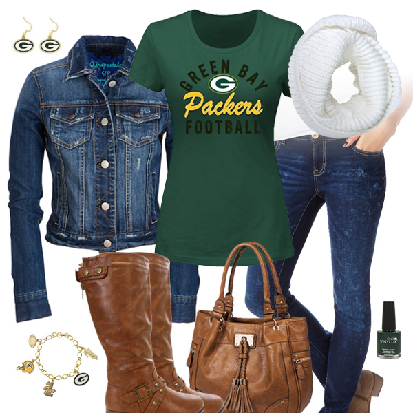 Green Bay Packers Jean Jacket Outfit Green Bay Packers