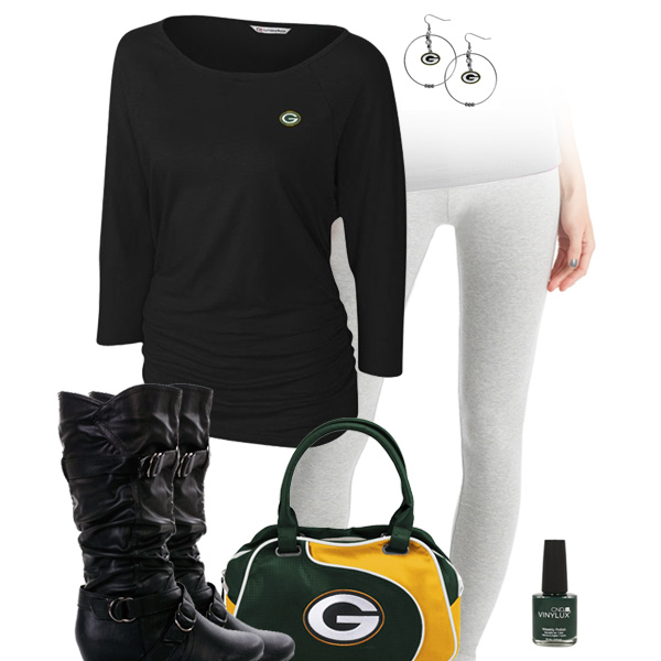 Green Bay Packers Inspired Leggings Outfit