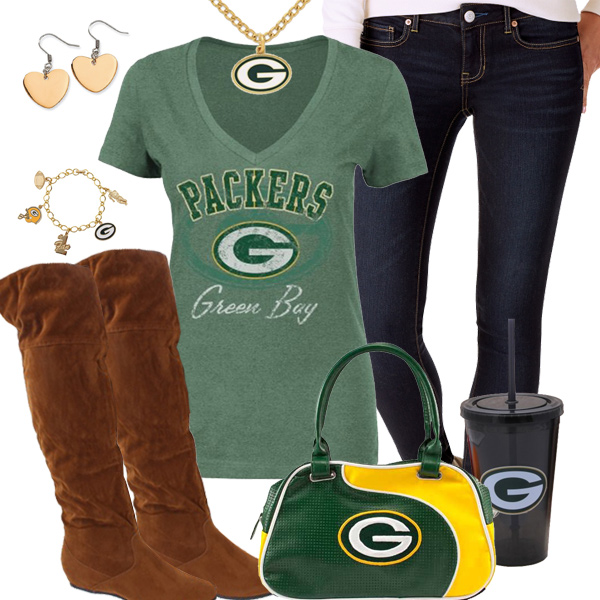 Cute Green Bay Packers Fan Outfit