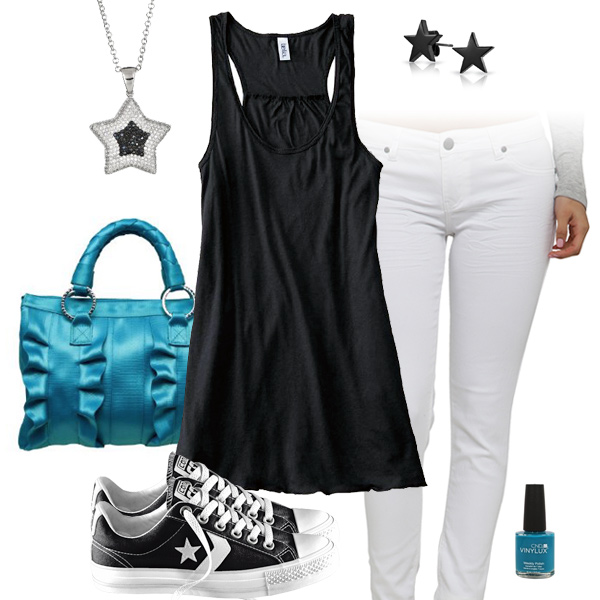 Carolina Panthers Outfit With Converse