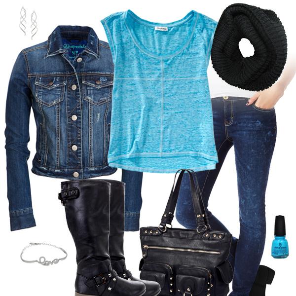 0dd6e4ae9 Carolina Panthers Jean Jacket Outfit, Carolina Panthers Fan Tee