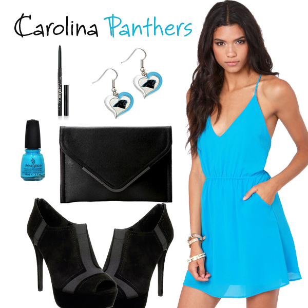 Carolina Panthers Inspired Date Look