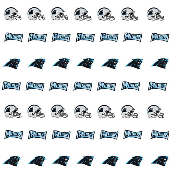 Carolina Panthers Nail Art