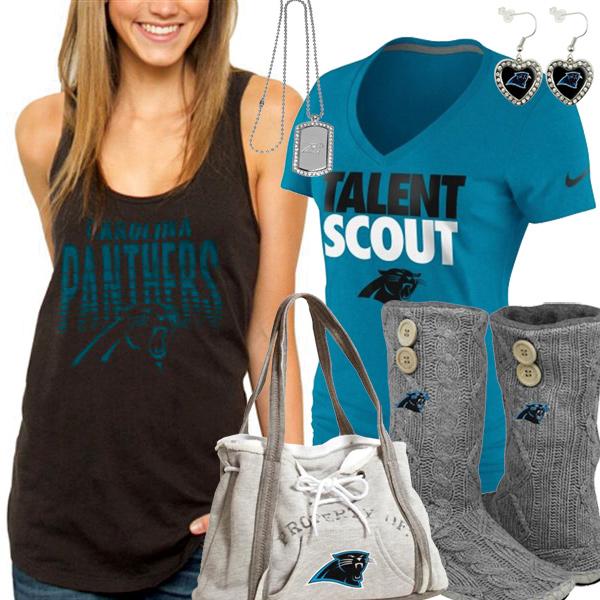 4e1ac49e2b9 Carolina Panthers Fan Style Inspiration, Panthers Fashion Inspiration
