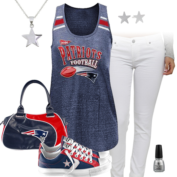 New England Patriots Outfit With Converse